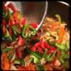 #Homemade Thai-Influenced Chicken & Veggies #CucinaDelloZio - add red + green peppers
