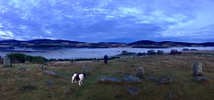 Panoramic view looking towards Coull and the Queens view from Tomnavarie Stone Circle