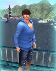ADRIATIC line Blue Hoodie & Jean Shorts
