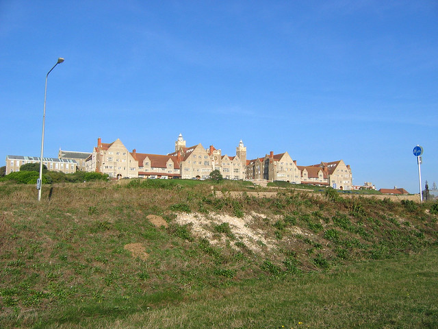 The coast at Roedean near Brighton
