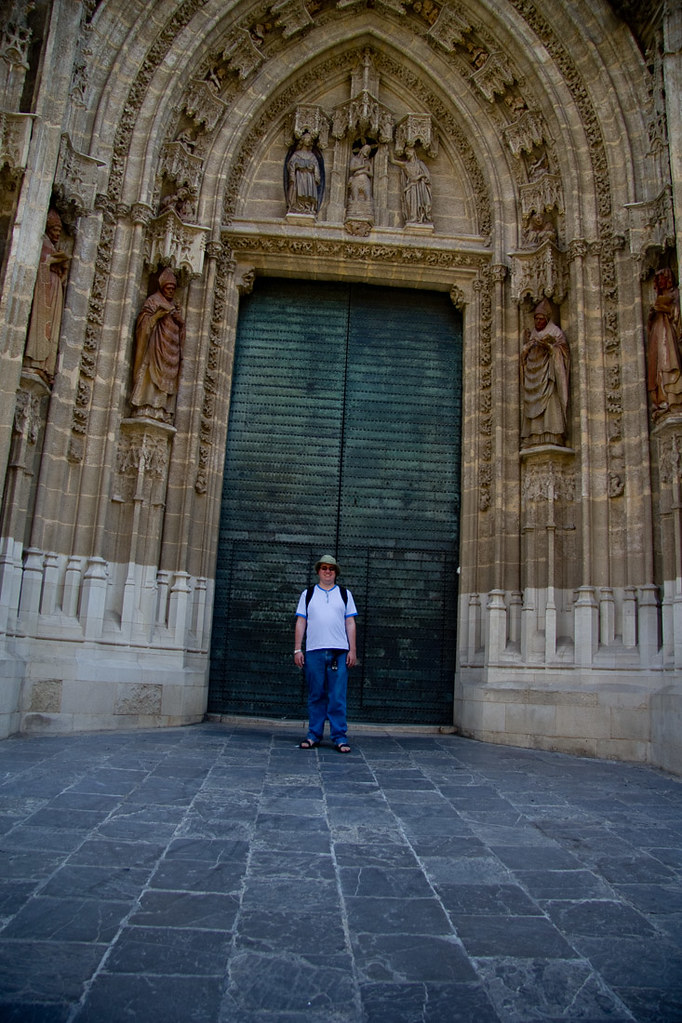 Ken outside the Cathedral of Seville