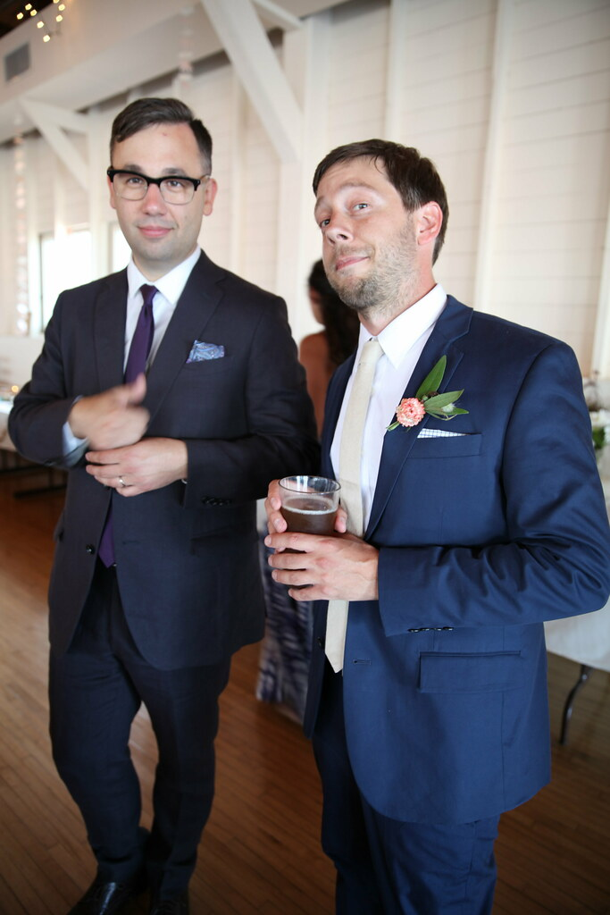 Adam and the groom></a></p> <p><a data-flickr-embed=