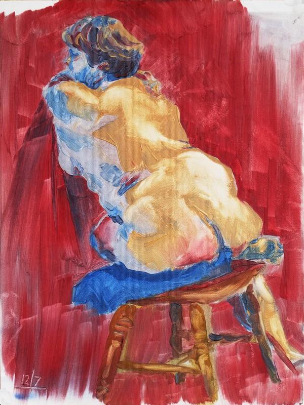 45 mins, oil paint, 12/07/2015
