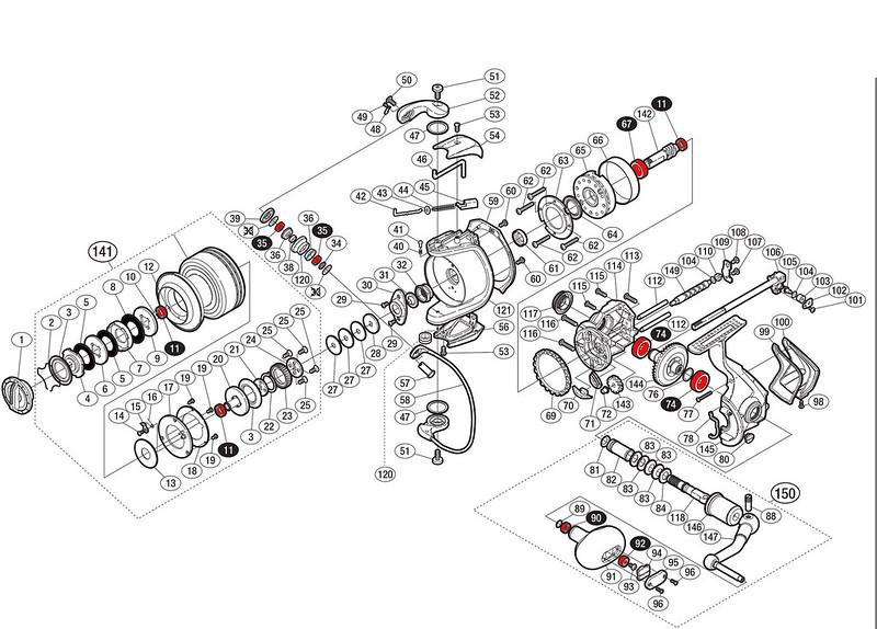 Schéma Shimano Twin Power 09 8000 PG
