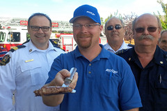 Firefighters cook up BBQ safety tips