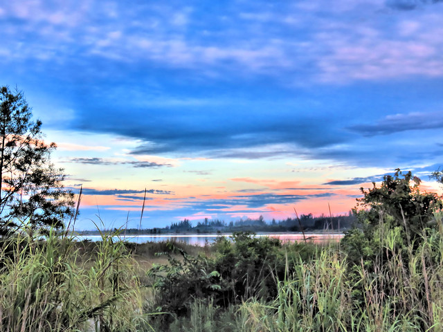 Dawn clouds to west HDR 20150730