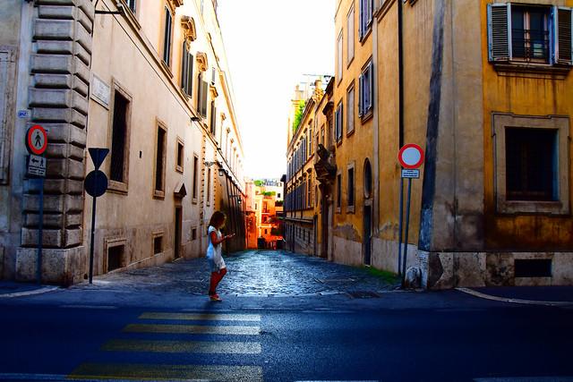 Street view, Rome