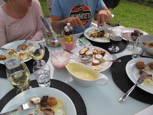 barbecue at caroline's and jesper's, saturday, helsingborg