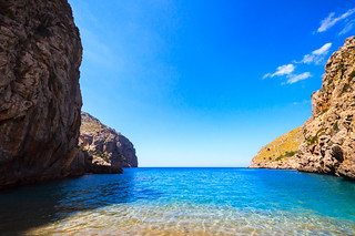 Image of Sa calobra. sea beach landscape coast mallorca