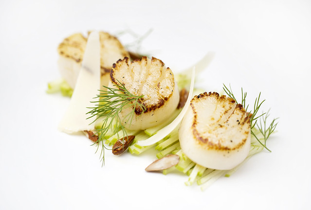 Scallops Green Apple Almonds  © ROH. Photograph by ROH Restaurants, 2017
