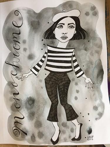 1 Monochrome - Beret Girl