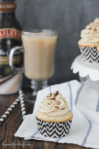 Virgin Mudslide Cupcakes are flavored with Bailey's Mudslide Coffee Creamers. That means everyone can enjoy!