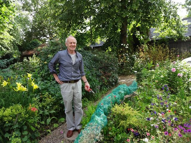 Steve in his garden