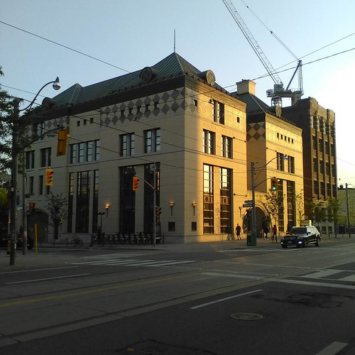 Lillian H. Smith Library in the evening #toronto #collegestreet #tpl #library #lillianhsmithlibrary