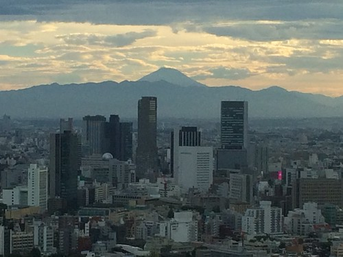 東京ミッドタウン35階からの富士山