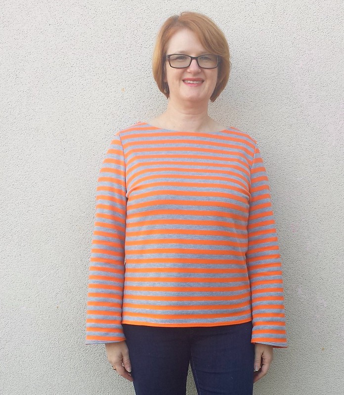 Style Arc Ricki top in french terry stripes from Clear It