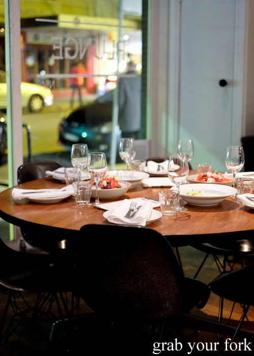 Dining room for David Tsirekas' Perama pop up at Plunge 46, Summer Hill