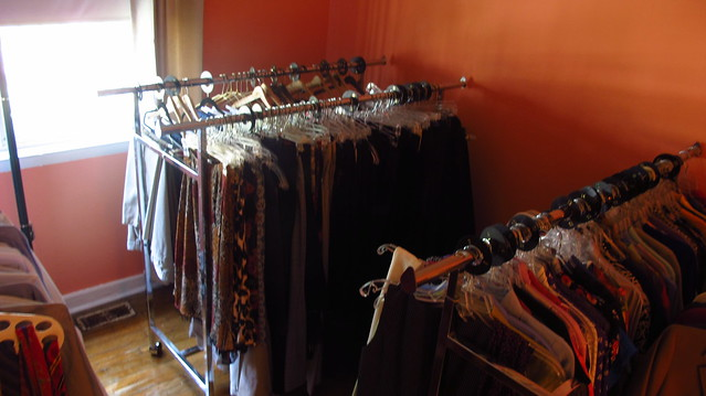 A Wider Circle at Barry Farm's professional workwear closet.   Photo by Colleen Cosgriff