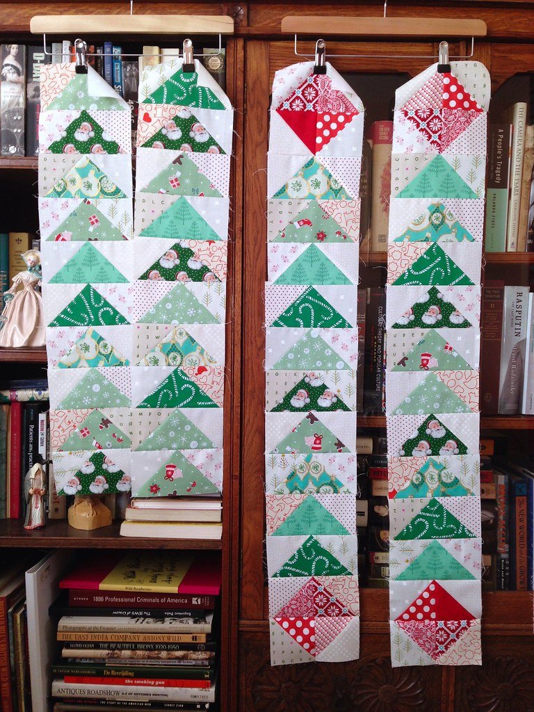 Merry Medallion Quilt HSTs and Corners