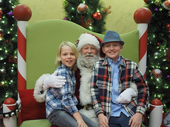 Probably our last trip to see Santa :(