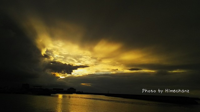 雨が降った直後の朝焼け♪