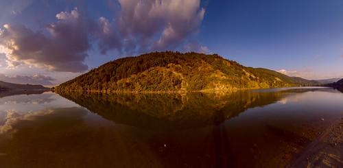 nikond7000 tokina1116mm sofia pancharevo panorama dam lake landscape sunset mountain