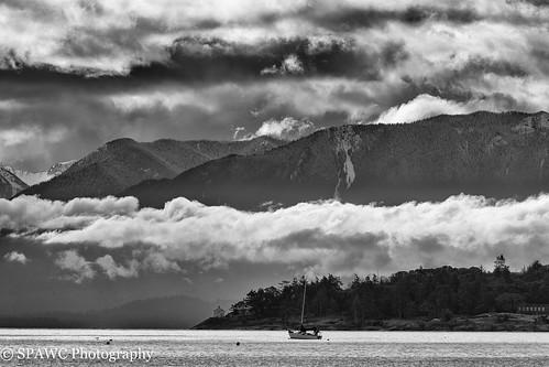 monochromatic washington winter bw clouds coastal rural blackwhite outdoor olympicpeninsula britishcolumbia landscape seascapes victoria canada ca
