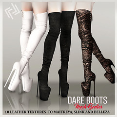 LEGENDAIRE DARE LEATHER BOOTS 10 TEXTURES HUD