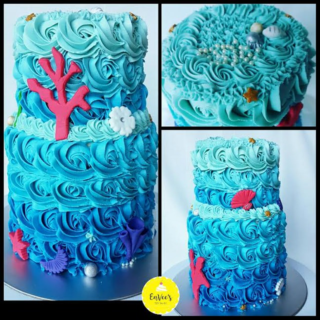 Underwater Theme Cake by Neethi Vignesh of EnVee's Kitchen – Singapore