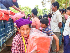 Nepal earthquake victims receive help