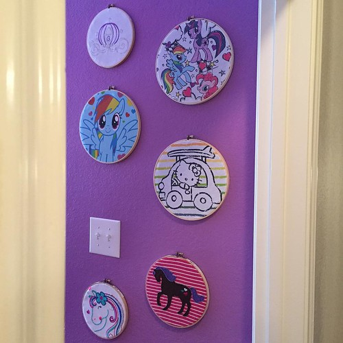 186:365 The painting is compete and the hoops have been hung. Megan loves her updated room 💜💜💜