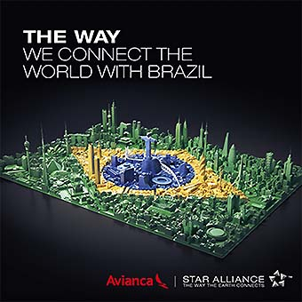 Visual of Star Alliance Avianca Brasil marketing campaign