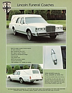 1980 Lincoln Funeral Coach by Demers (Canada)