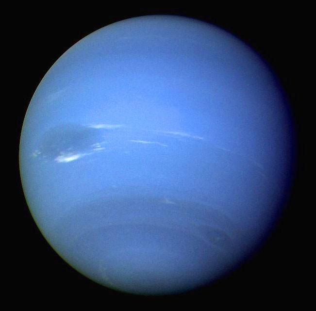 Neptune, taken by Voyager 2 in 1989
