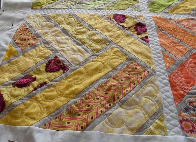 Broken Herringbone quilt progress