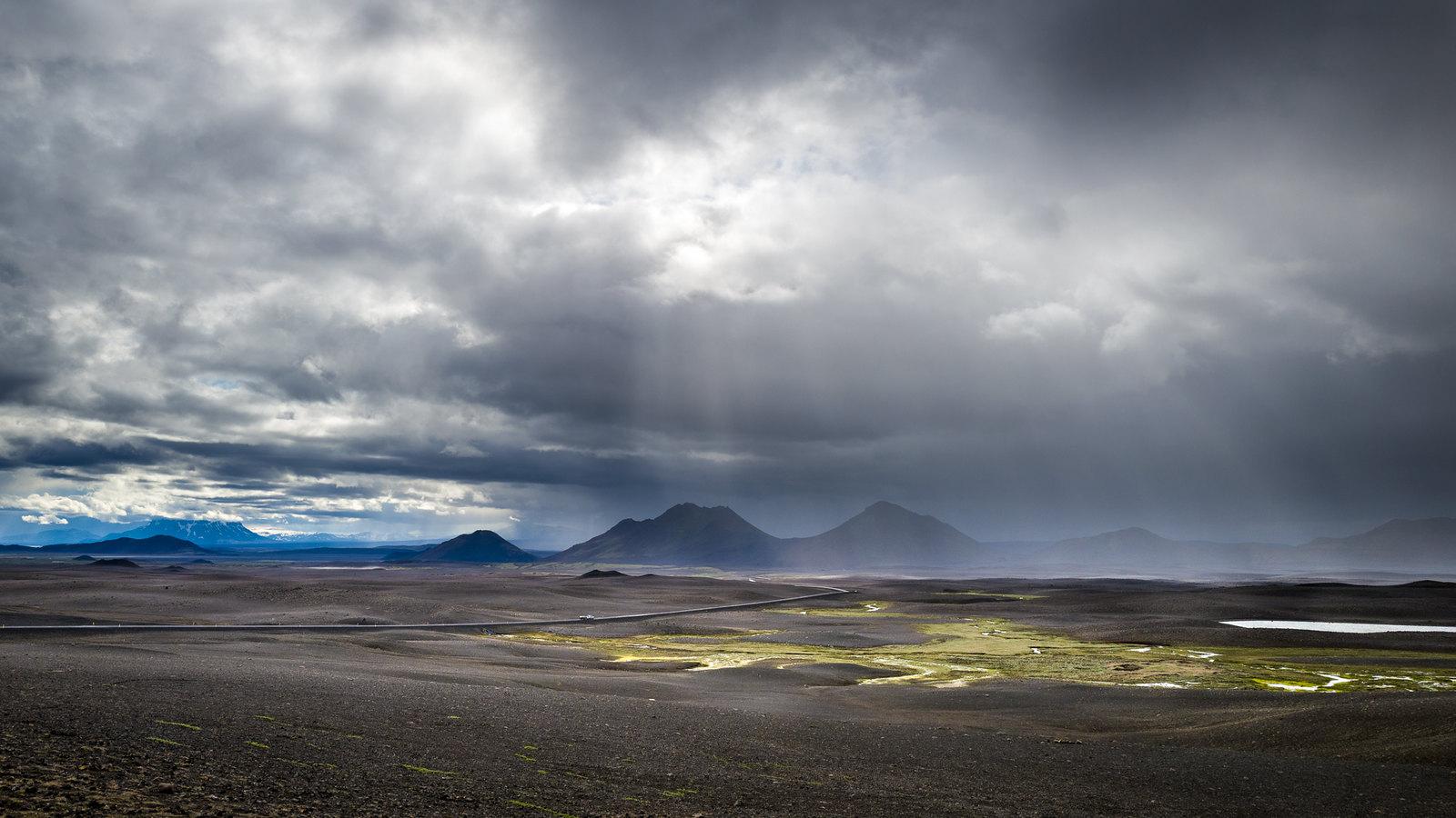 Barren land of Northeast Iceland