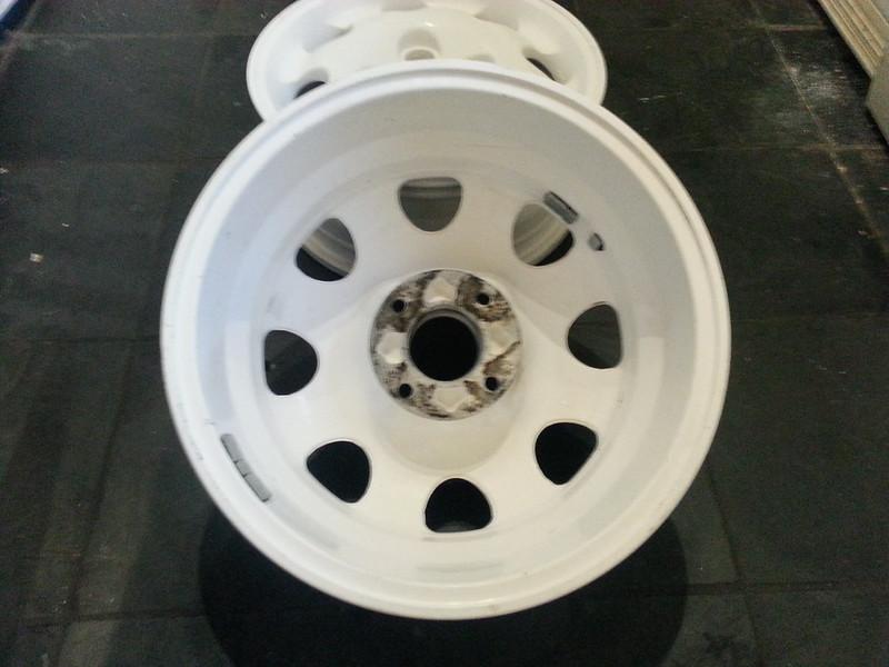 white powdercoated 205 1 9 smr 15x6 wheels. Black Bedroom Furniture Sets. Home Design Ideas
