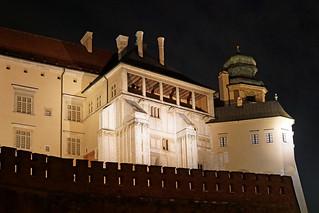 Image of Wawel Castle near Kraków. auschwitz krakow poland globus sony a6300 ilce6300 18200mm 1650mm mirrorless free freepicture archer10 dennis jarvis dennisgjarvis dennisjarvis iamcanadian novascotia canada wawelcastle night walls