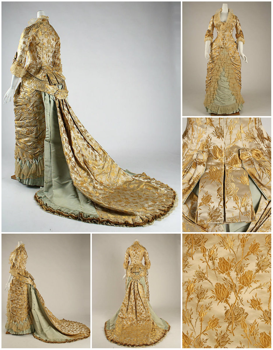 1877. Dinner Dress. Silk. metmuseum