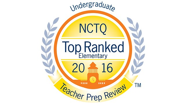 Wilmington University's bachelor of science program in elementary education teacher preparation ranks in the top 3% of undergraduate teacher preparation programs nationwide, according to the National Council on Teacher Quality's (NCTQ) most recent survey of the field. The new rankings can be seen in the December 2016 issue of the NCTQ Teacher Prep Review.