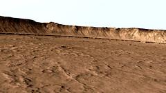 Wall of Impact Crater in Elysium Planitia (Alternative Shading)