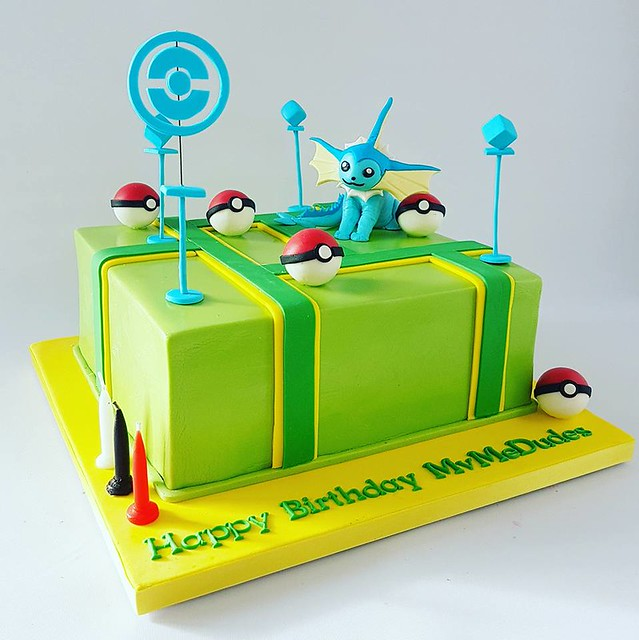 Pokémon Go Themed Cake by Glorious Cakes