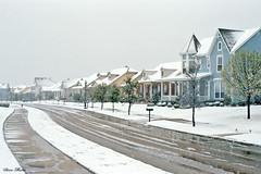 Neighborhood in Snowstorm, North Richland Hills