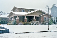 Hometown NRH House in Snowstorm