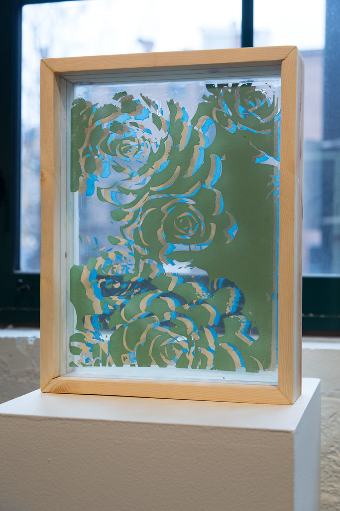 Untitled, 2016 Screenprint on glass