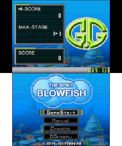 DSiWare_GGSeriesTheSpikyBlowfish_titlescreen
