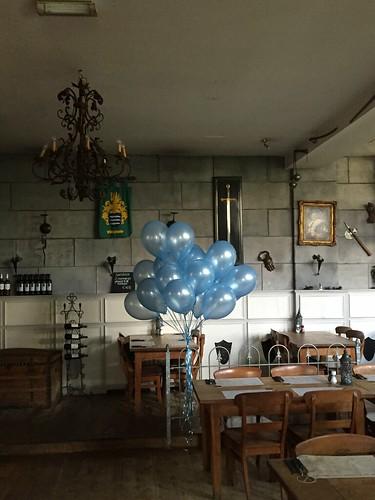Heliumballonnen Lichtblauw Wapen van Poortugaal