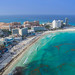 Cancun beach aerial - Luftbild by dronepicr