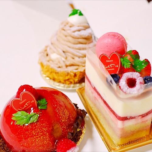 父の日のケーキ。パティスリーヴェルプレさん。