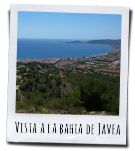 Een prachtig uitzicht op de baai van Javea
